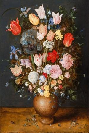 Vazo İçinde Çiçekler 34 İç Mekan Dekoratif Modern Kanvas Tablo
