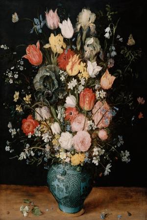 Vazo İçinde Çiçekler 35 İç Mekan Dekoratif Modern Kanvas Tablo