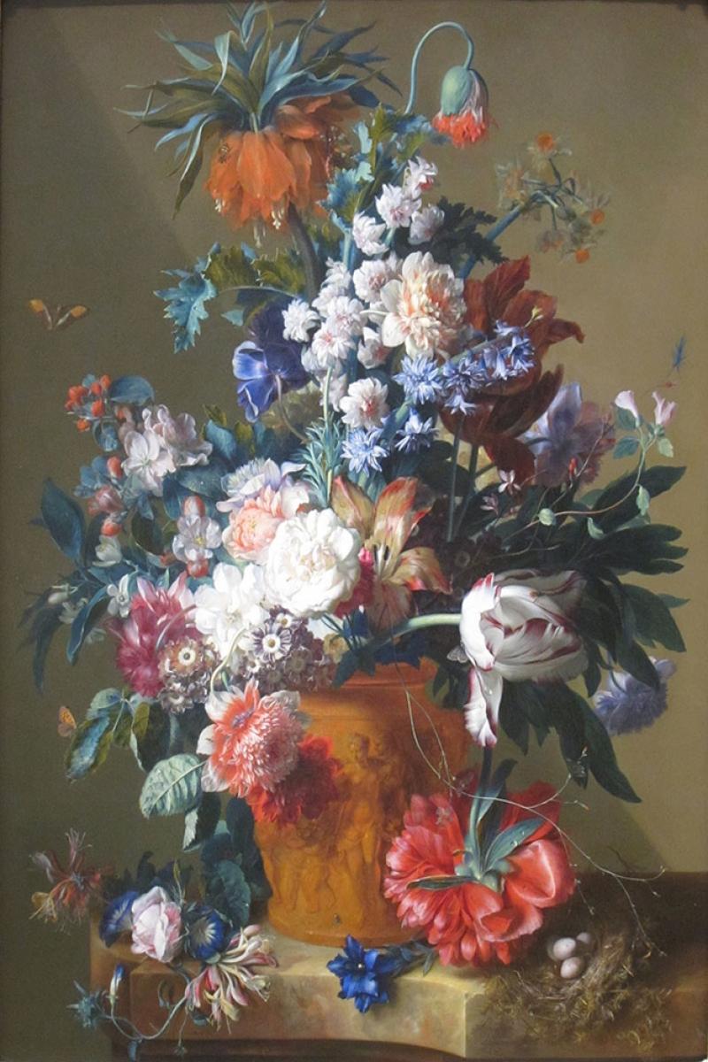 Vazo İçinde Çiçekler 39 İç Mekan Dekoratif Modern Kanvas Tablo