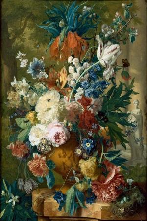 Vazo İçinde Çiçekler 44 İç Mekan Dekoratif Modern Kanvas Tablo