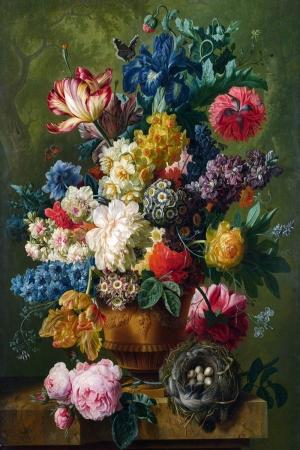 Vazo İçinde Çiçekler 45 İç Mekan Dekoratif Modern Kanvas Tablo