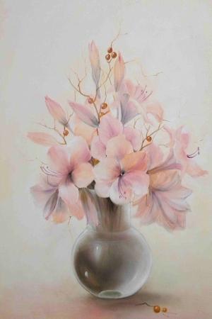 Vazo İçinde Çiçekler 48 İç Mekan Dekoratif Modern Kanvas Tablo