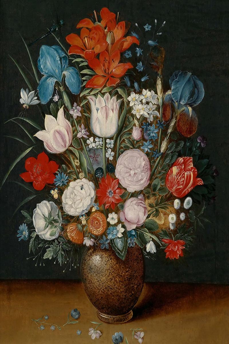 Vazo İçinde Çiçekler 53 İç Mekan Dekoratif Modern Kanvas Tablo