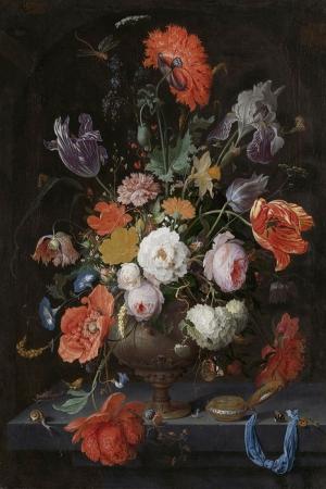 Vazo İçinde Çiçekler 54 İç Mekan Dekoratif Modern Kanvas Tablo
