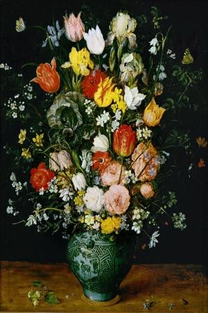 Vazo İçinde Çiçekler 60 İç Mekan Dekoratif Modern Kanvas Tablo