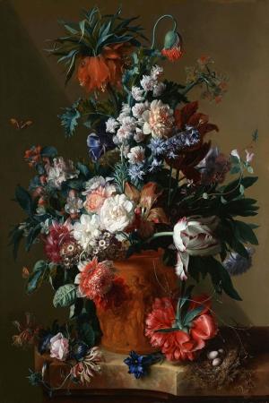 Vazo İçinde Çiçekler 61 İç Mekan Dekoratif Modern Kanvas Tablo