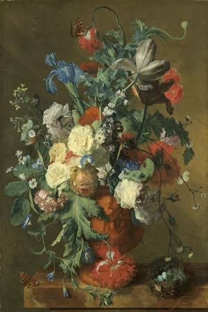 Vazo İçinde Çiçekler 63 İç Mekan Dekoratif Modern Kanvas Tablo