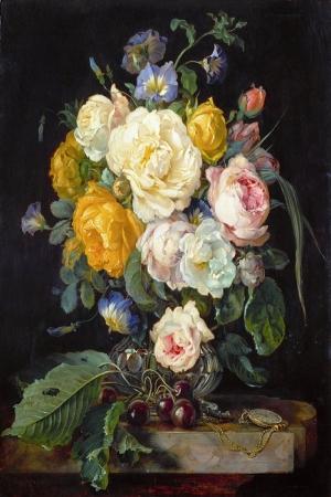Vazo İçinde Çiçekler 64 İç Mekan Dekoratif Modern Kanvas Tablo