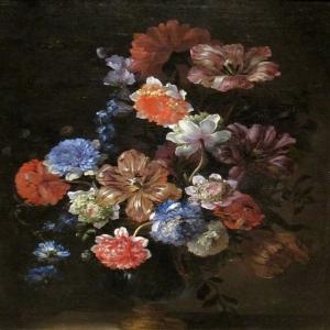 Vazo İçinde Çiçekler 7 Dekoratif Kanvas Tablo