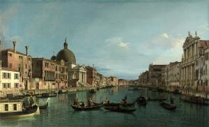Venedik Canaletto Regatta 2 Yağlı Boya Sanat Kanvas Tablo