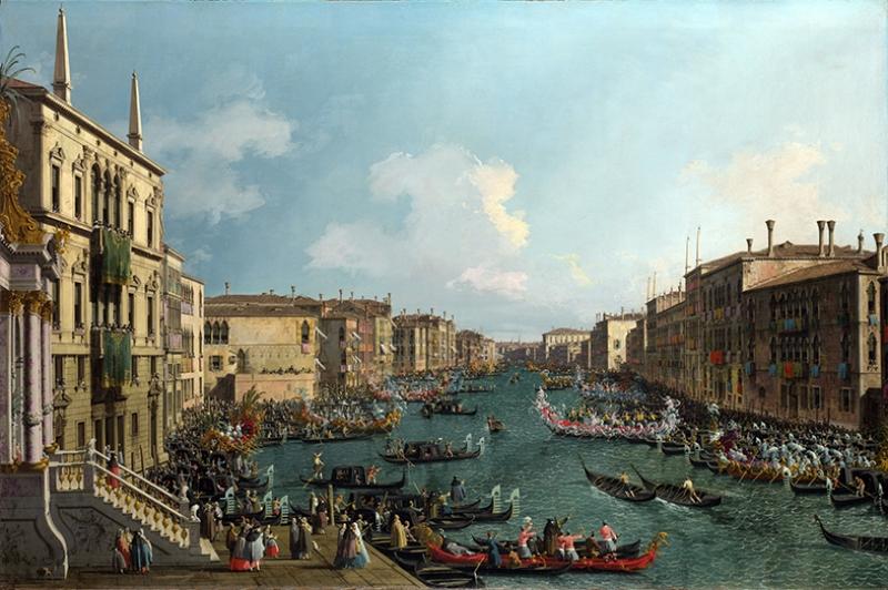 Venedik Canaletto Regatta 5 Yağlı Boya Sanat Kanvas Tablo