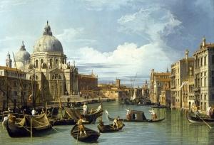 Venedik Canaletto Regatta Yağlı Boya Sanat Kanvas Tablo
