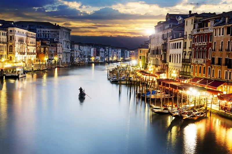 Venedik İtalya Dünyaca Ünlü Şehirler Kanvas Tablo