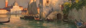 Venedik Kanal Manzaraları, İtalya Gondollar İç Mekan Dekoratif Modern Kanvas Tablo