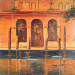 Venedik Şehir Manzarası 2, Dekoratif Kanvas Tablo