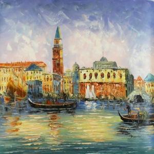 Venedik Şehir Manzarası 3, Dekoratif Kanvas Tablo