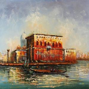 Venedik Şehir Manzarası 4, Dekoratif Kanvas Tablo