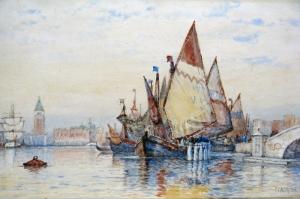 Venedik Şehir Manzarası 5 Yağlı Boya Dekoratif Modern Kanvas Tablo