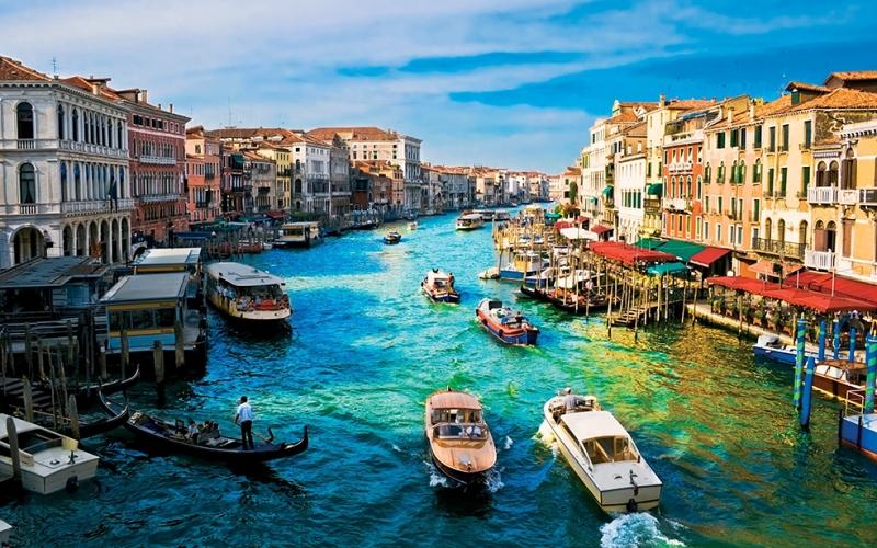 Venedik Şehir Manzarası Dünyaca Ünlü Şehirler Kanvas Tablo