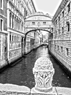 Venedik Siyah Beyaz Fotoğraf Kanvas Tablo