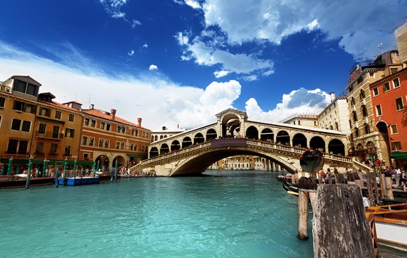 Venice Grand Kanal İtalya Dünyaca Ünlü Şehirler Kanvas Tablo