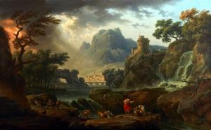 Vernet Claude Joseph Doğa Manzarası Peyzaj Yağlı Boya Klasik Sanat Kanvas Tablo