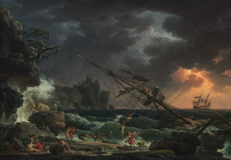 Vernet Claude Joseph Yağlı Boya Klasik Sanat Kanvas Tablo