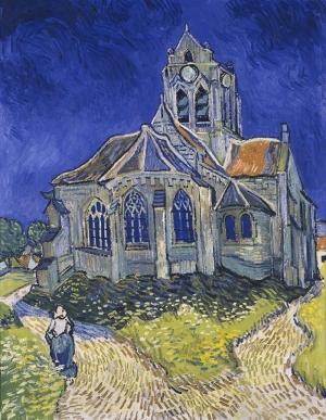 Vincent Van Gogh Auversdeki Kilise Reprodüksyon Yağlı Boya Klasik Sanat Kanvas Tablo