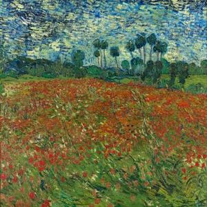 Vincent Van Gogh Gelincik Tarlası Yağlı Boya Klasik Sanat Kanvas Tablo