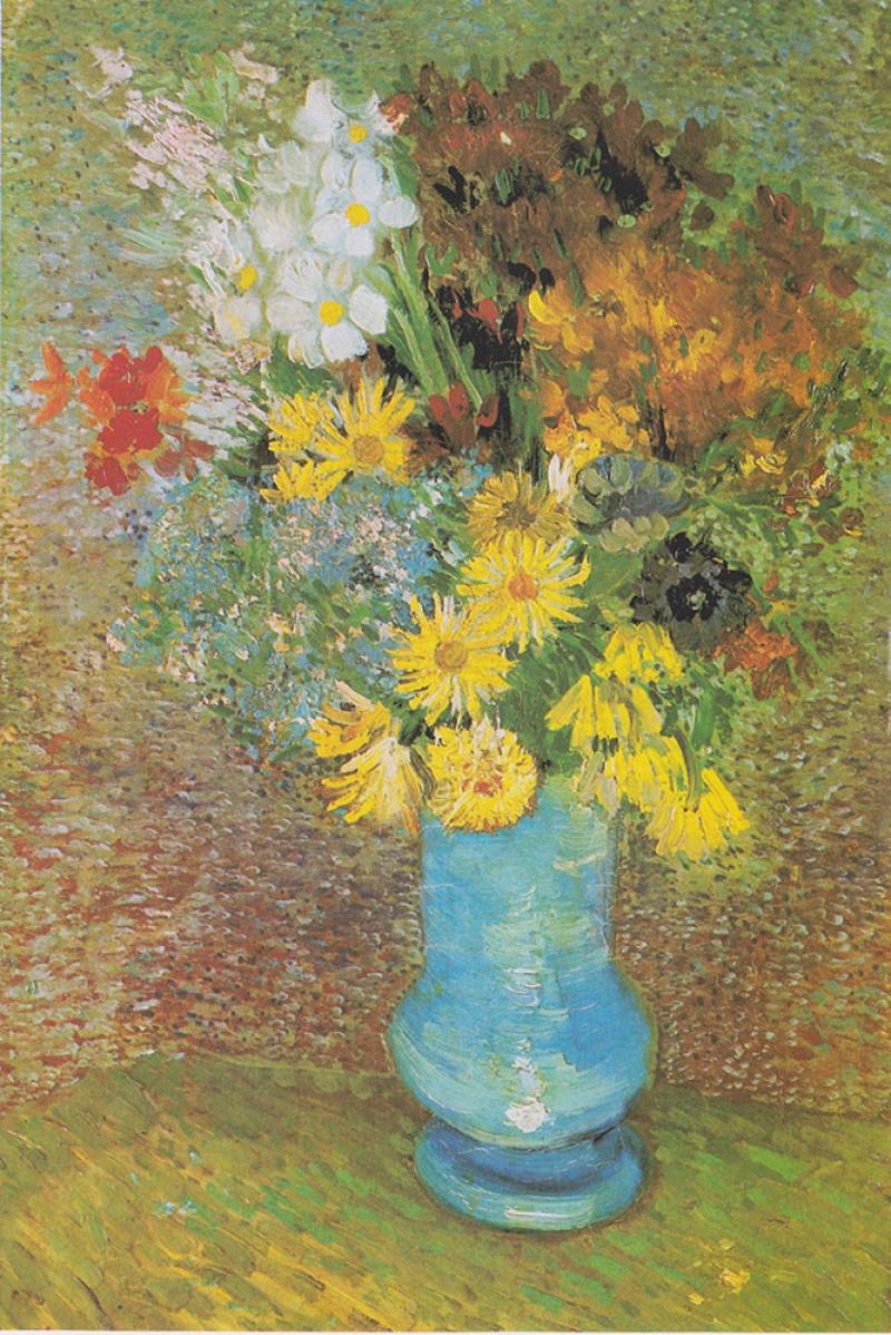Vincent Van Gogh Renkli Çiçekler Yağlı Boya Reproduksiyon Klasik Sanat Kanvas Tablo