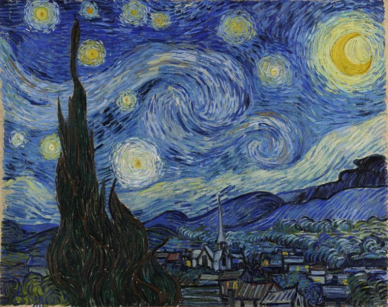 Vincent Van Gogh Yıldızlı Gece Yağlı Boya Sanat Kanvas Tablo Arttablo