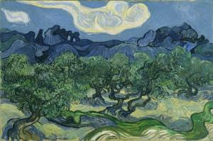 Vincent Van Gogh Zeytin Agaclari Yagli Boya Klasik Sanat Kanvas Tablo