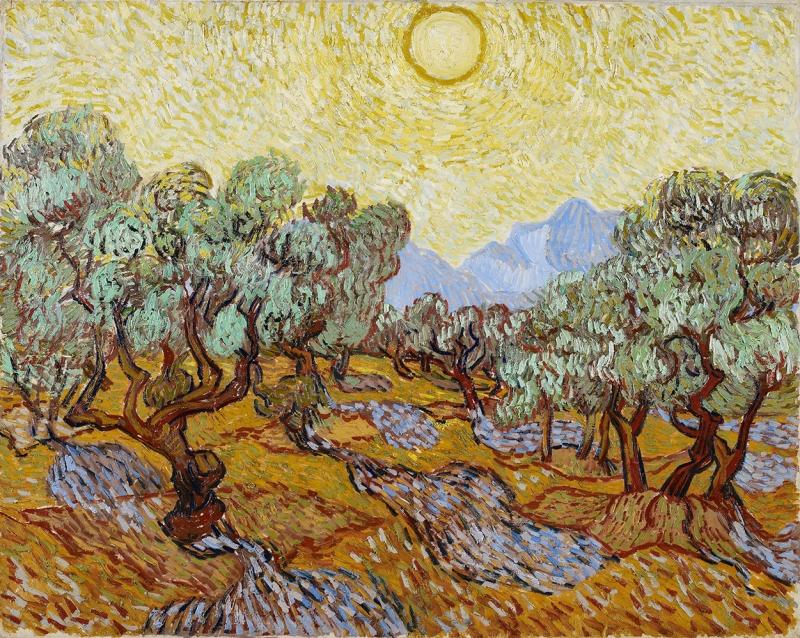 Vincent Van Gogh Zeytin Ağaçları Yağlı Boya Reprodüksiyon Klasik Sanat Kanvas Tablo