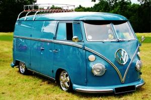 Volkswagen Minibüs Retro Araçlar Kanvas Tablo