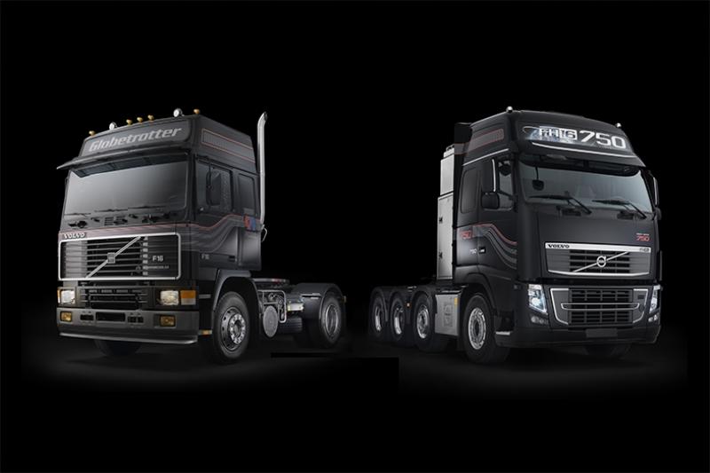 Volvo Siyah Tırlar Kanvas Tablo