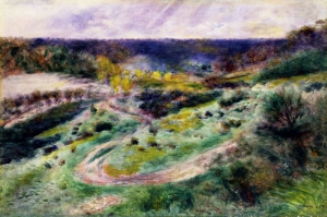 Wargemont Yolunda, Pierre August Renoir, Road at Wargemont Klasik Sanat Kanvas Tablo