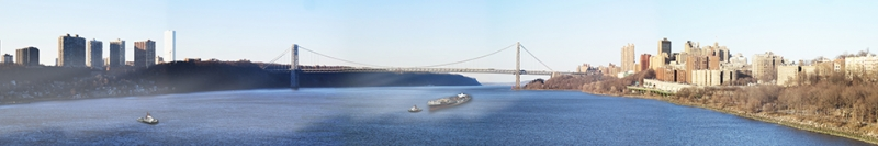 Washington Köprüsü Panaromik Kanvas Tablo