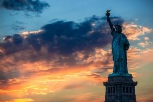 Washington Özgürlük Heykeli Dünyaca Ünlü Şehirler Kanvas Tablo