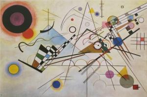 Wassily Kandinsky, Composition 8, Reprodüksiyon Klasik Sanat Kanvas Tablo