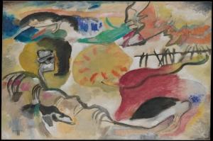 Wassily Kandinsky, Garden of Love, Reproduksiyon Klasik Sanat Kanvas Tablo