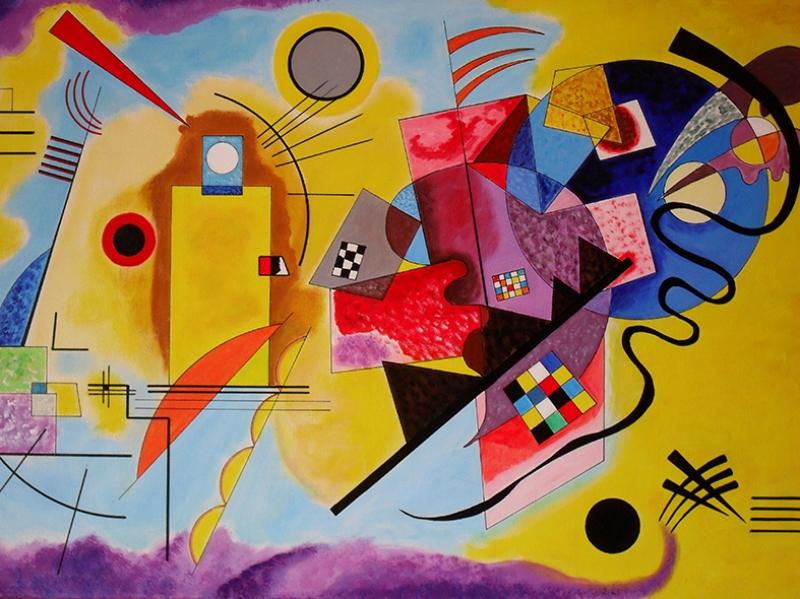 Wassily Kandinsky Kompozisyon Yağlı Boya Sanat Kanvas Tablo
