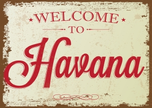 Welcome To Havana Retro & Motto Kanvas Tablo
