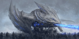 White Walkers Dragon Game Of Thrones Anime Kanvas Tablo