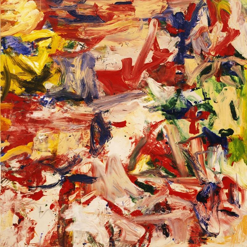 Willem de Kooning 4 Yagli Boya Klasik Sanat Kanvas Tablo