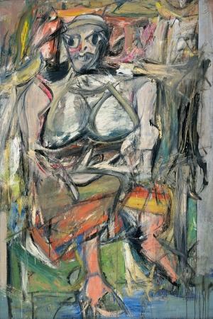 Willem de Kooning Kadin 1 Yagli Boya Klasik Sanat Kanvas Tablo