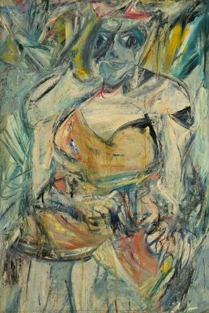 Willem de Kooning Kadin 2 Yagli Boya Klasik Sanat Kanvas Tablo