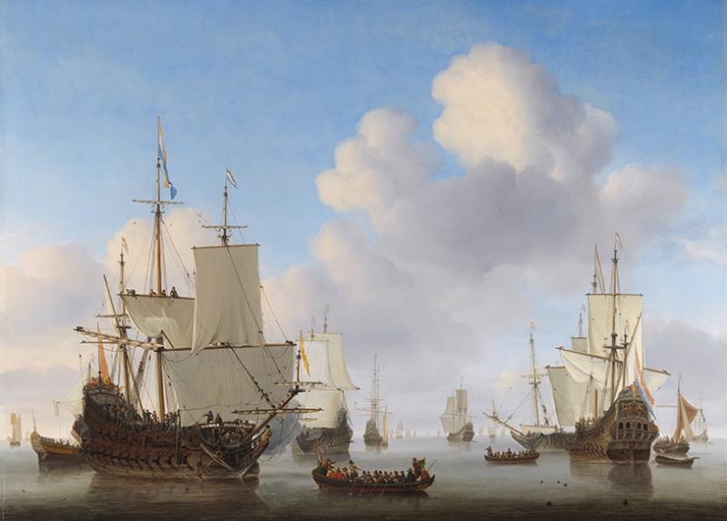 Willem Van De Velde De Jonge Yağlı Boya Sanat Kanvas Tablo