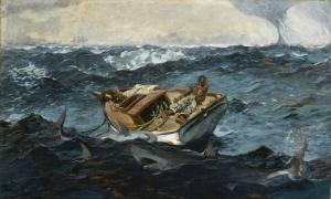 Winslow Homer Körfez Akıntısı Hırçın Dalgalar Yağlı Boya Klasik Sanacanvas Tablo