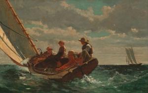 Winslow Homer Yelkenli Dalgalı Deniz Klasik Sanat Kanvas Tablo