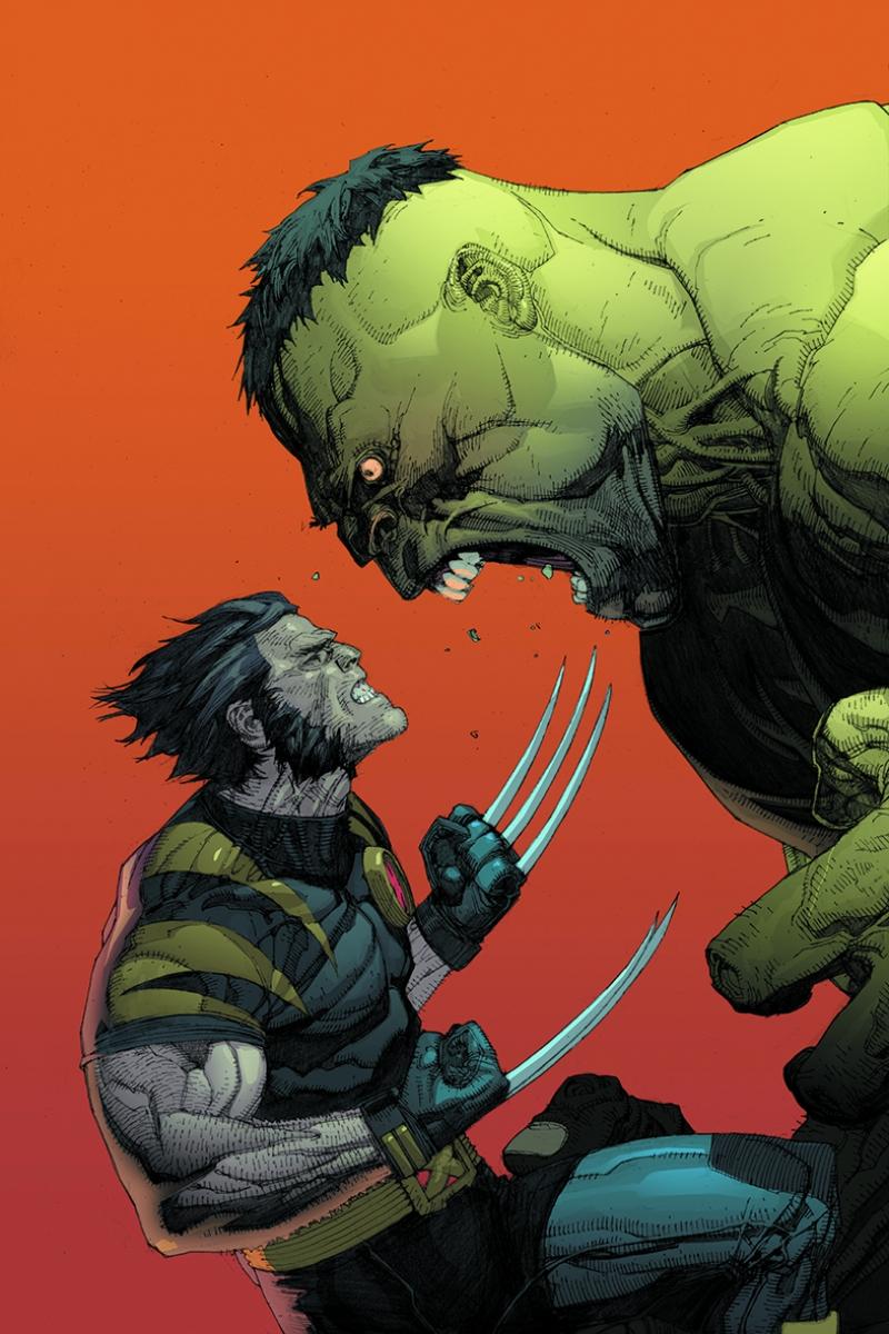 Wolverine ve Hulk Süper Kahramanlar Kanvas Tablo